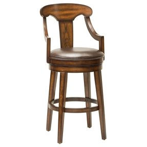 Hilale Furniture Upton 45 5 Inch Swivel Bar Stool Rustic Oak Finish