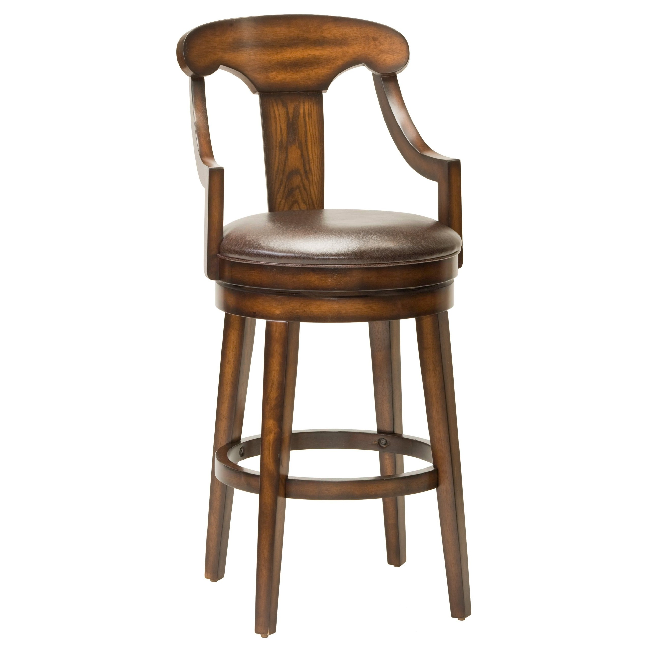 Gentil Hillsdale Furniture Upton 45.5 Inch Swivel Bar Stool, Rustic Oak Finish