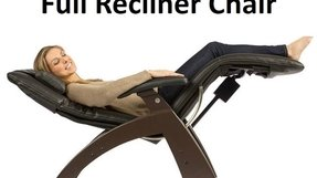 Human Touch PC-300 Perfect Chair Electric Power Recline Wood Base Zero-Gravity Recliner - Dark Cacao Wood - Black Vinyl - Standard Ground Shipping Included