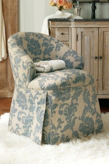Josephine vanity chair blue damask petite vanity chair damask chair & Vanity Chairs - Foter
