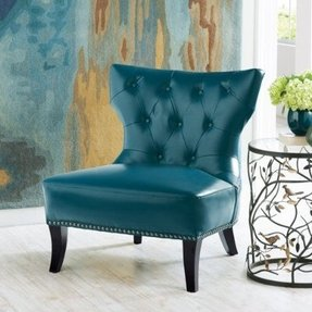 Mabry leather club chair 1
