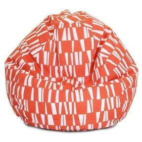 Majestic Home Goods Sticks Bean Bag, Small, Salmon