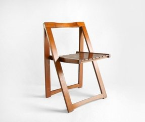 Mid century wood folding chair