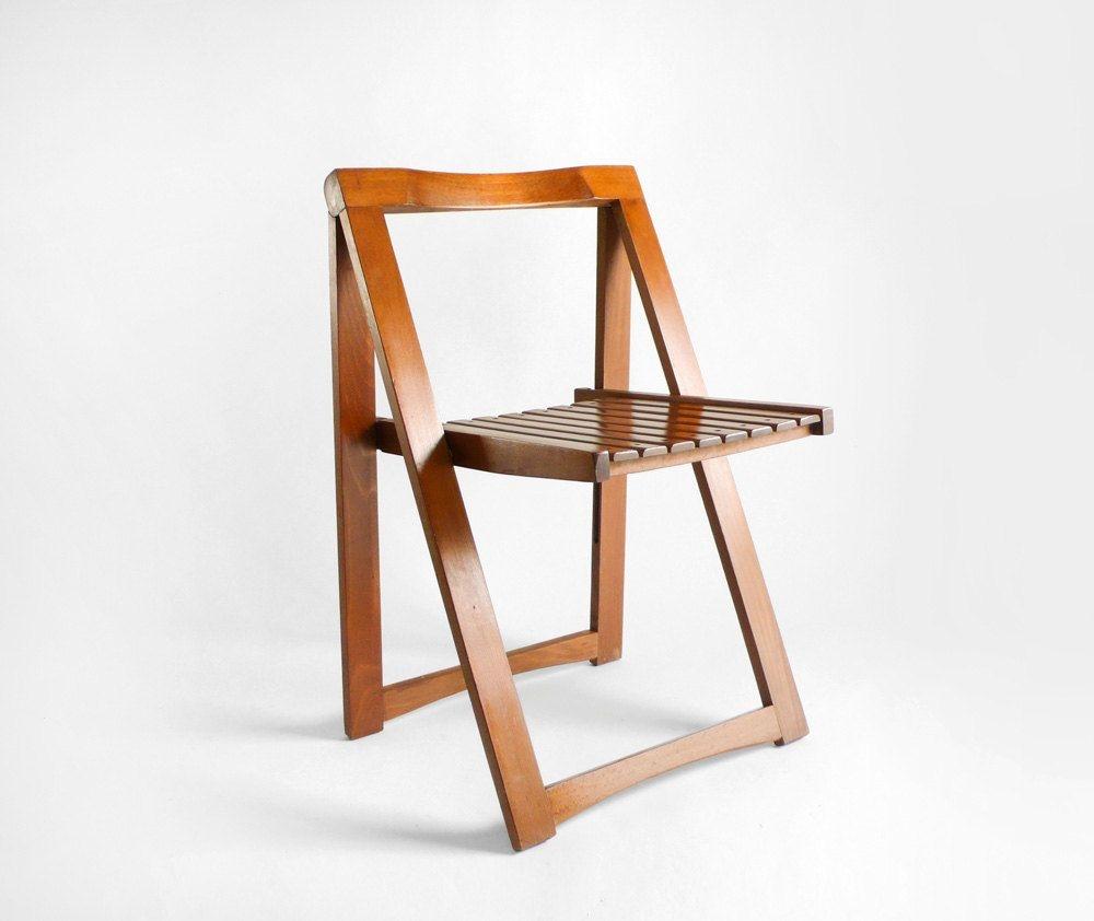 Mid Century Wood Folding Chair