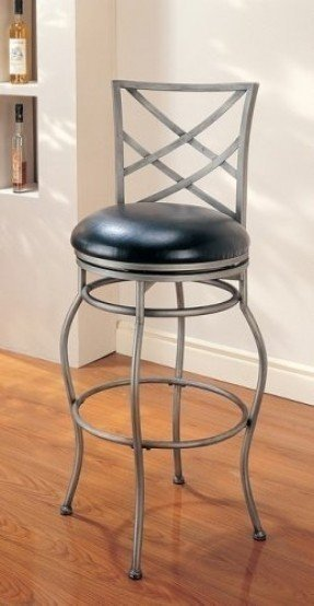 Modern Contemporary Euro Designer Style Wrought Iron Swivel Seat Cushion Barstool/Bar Stool
