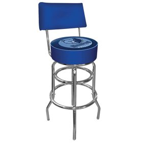 NCAA Ohio State Logo Padded Bar Stool With Back, Black Bar Stool, Black