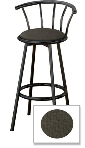 "New 29"" Indianapolis Colts Logo Themed Custom Specialty Black Swivel Seat Bar Stools with a Black Vinyl Seat Cushion"