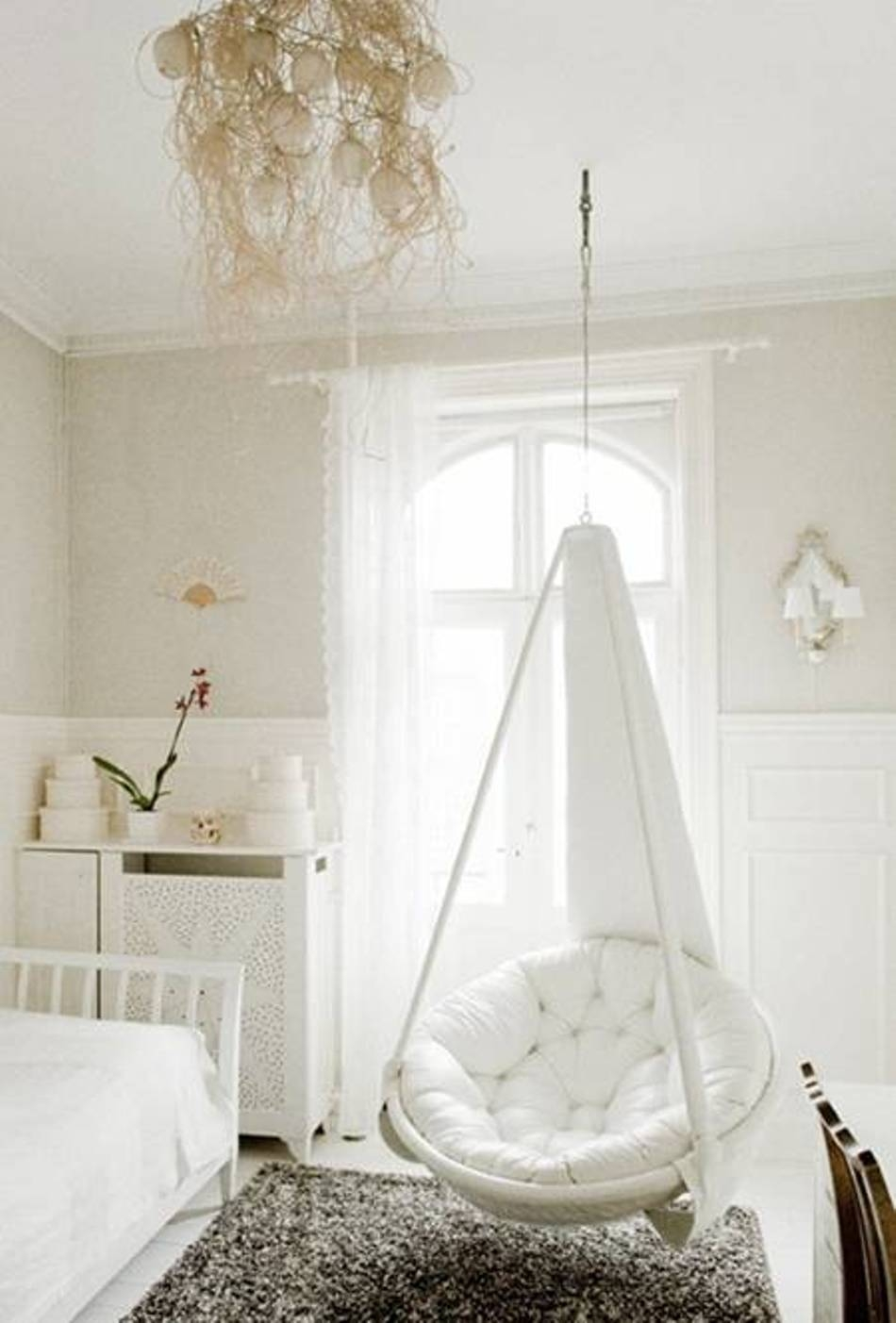 Papasan Chair Frame. All White ...