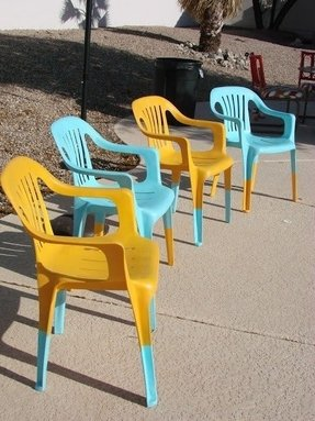 Plastic outdoor chairs 4