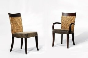 Rattan dining chairs 1
