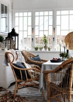 Rattan dining chairs 12