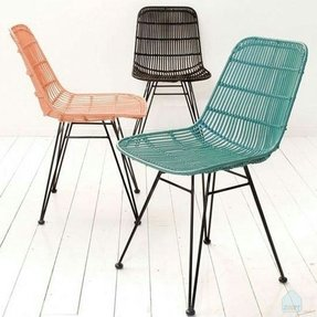 Rattan dining chairs 3