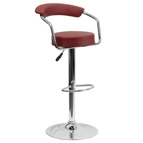 Retro Kitchen Home Office Den Chrome Frame Bar Counter Stools Chairs 9-Colors #1060
