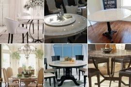Round marble dining table set & Round Marble Dining Table Set - Foter