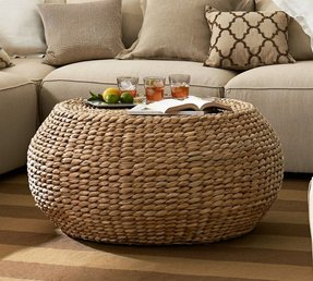 Seagrass round coffee table 1