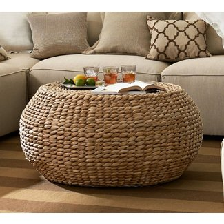 Round Wicker Ottoman Coffee Table Ideas On Foter