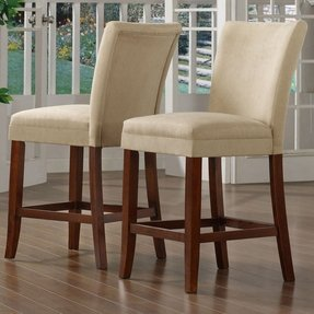 These stylish parsons dining room chairs come as a pair