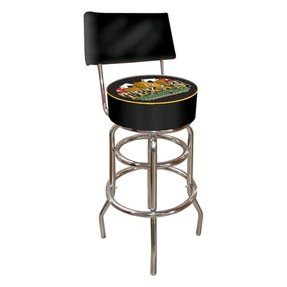 Trademark Pow Padded Bar Stool With Back Padded