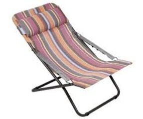 Transabed Christera Batyline Striped Mesh Fabric Folding Reclining Chair - L56 FM23455020