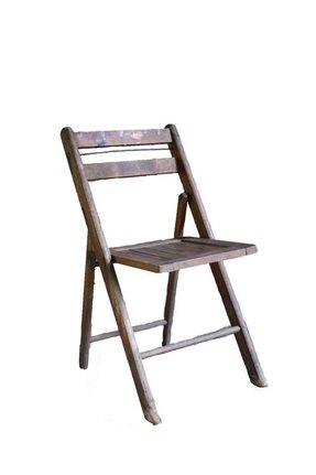 Vintage industrial wood folding chair