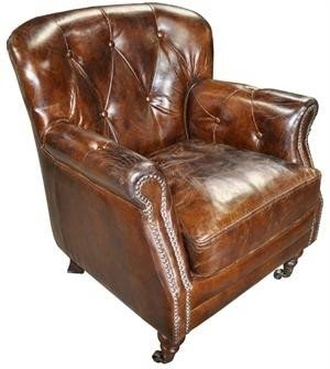 Great Vintage Leather Club Chair