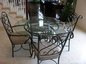 Wrought iron kitchen sets