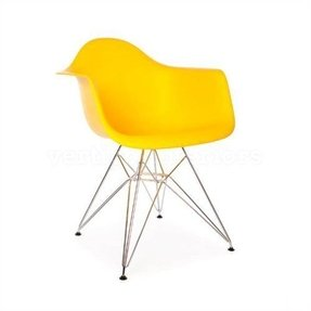 1 x High Quality Eames Style Classic DAR Eiffel Dining Lounge Arm Chair - Yellow