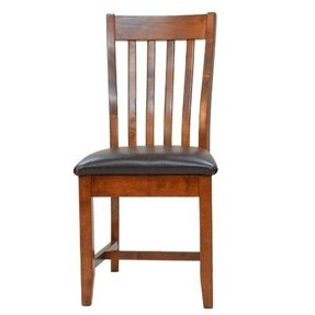 Carolina Cottage Colby Upholstered Mission Dining Chair American Oak