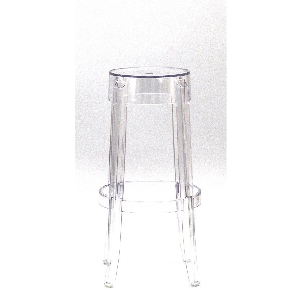 Casper Bar Stools Set Of 2 Clear Color