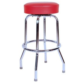 Clic Red Chrome 30 Inch Swivel Bar Stool Made In Usa