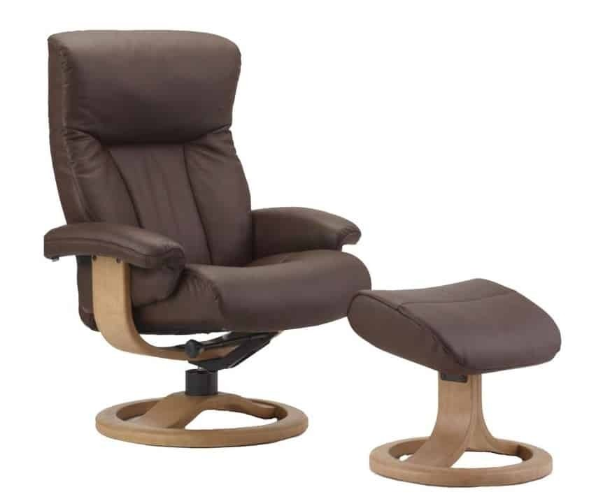 Ordinaire Fjords Scandic Leather Recliner And Ottoman   R Frame Norwegian Ergonomic  Scandinavian Reclining Chair In Soft