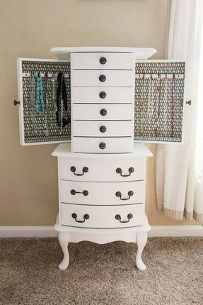 White Wall Mount Jewelry Armoire Ideas On Foter
