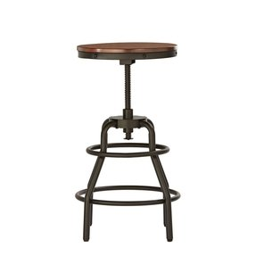 "Industrial Mansard Stool, 31""HX19.25""W, BLACK"