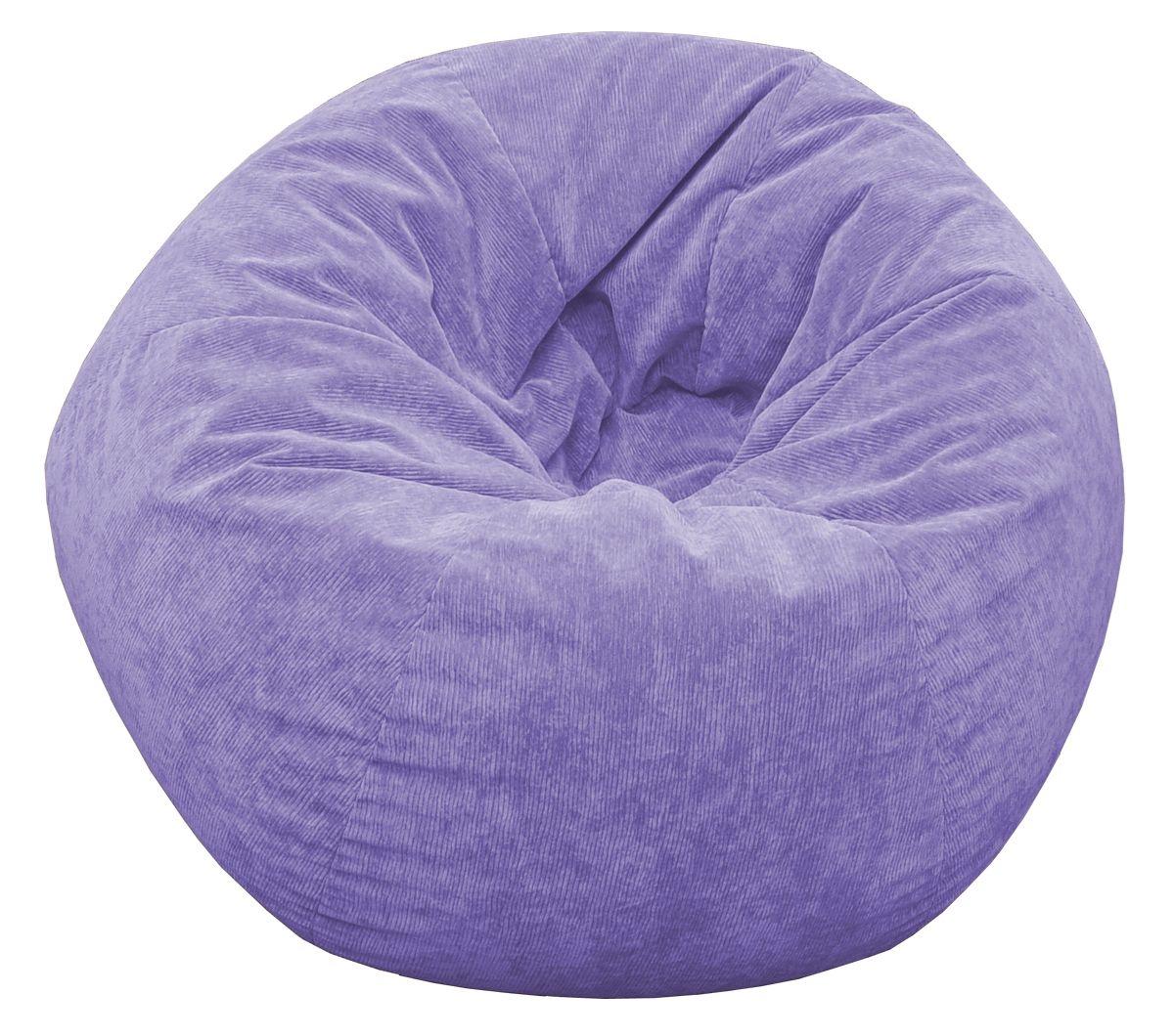 Jumbo Corduroy Bean Bag Chair Color: Lilac