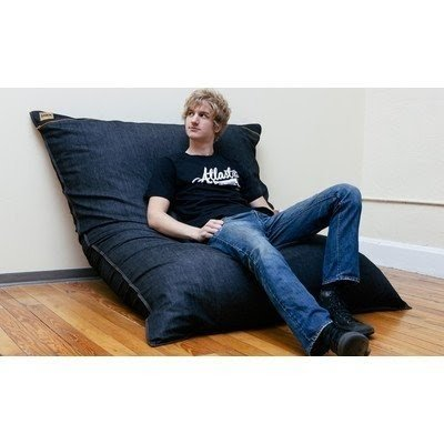 Good Pillowsaxx Large Denim Bean Bag Lounger
