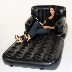 Smart Air Beds 4 X 1 Inflatable Chair (Single, Black)