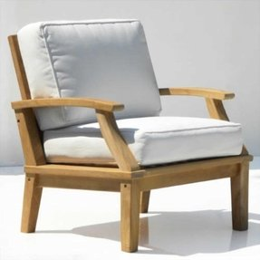 St. Barts Deep Seating Teak Arm Chair with Cushions