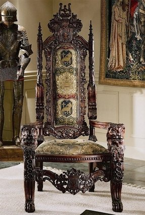 The Lord Raffles Lion Throne Fabric Arm Chair