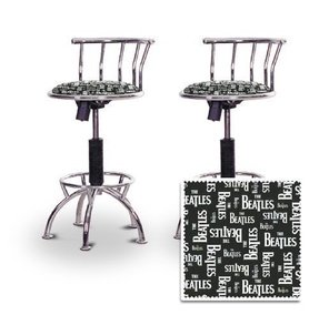 2 The Beatles Band Music Chrome Adjustable Barstools