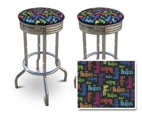 2 The Beatles Band Music Themed 29'' Specialty Chrome Barstools Bar Stools