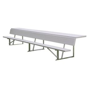 Aluminum 7.5ft Players Bench with Storage Shelf