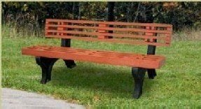 Engineered Plastic Systems DB8 8 ft Designer Bench in Redwood