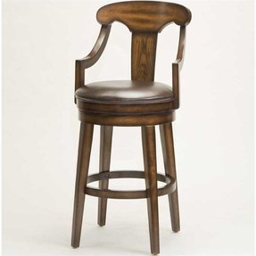 Hilale Furniture Upton 41 5 Inch Swivel Counter Stool Rustic Oak Finish