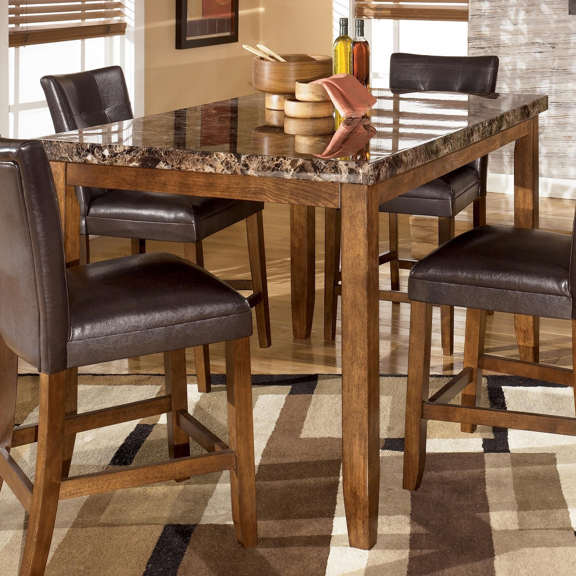 Charmant Lacey Rectangular Counter Height Dining Table