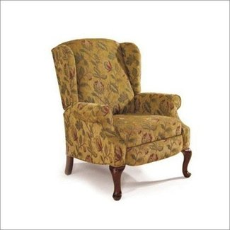 Recliner Lane Furniture Heathgate High-Leg Recliner in Goldenrod
