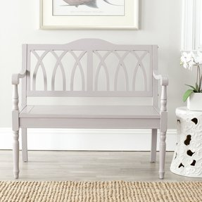 Safavieh American Home Collection Benjamin Bench, Grey