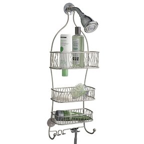Brushed Nickel Shower Caddy - Foter