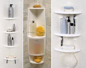 bathroom corner shower. Zenith Corner Bath And Shower Caddy, White Bathroom