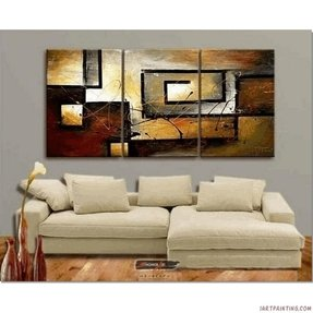 Abstract Wall Canvas Art Sets Painting for Home Decoration 100% Hand Painted Oil Painting Modern Art Large Canvas Wall Art Stretched and Ready to Hang Free Shipping 3 Piece Canvas Art