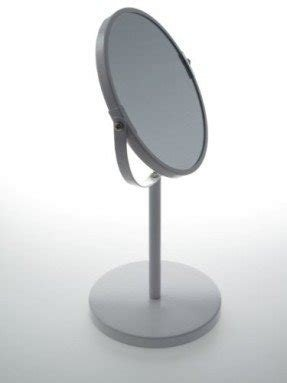 Two-Sided Tabletop 360 Degree Swivel Vanity Mirror (1X - 3X) - White Tall Stand